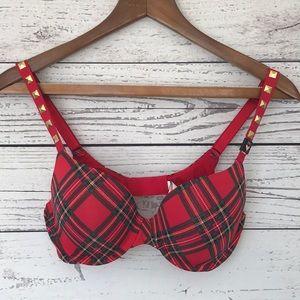 Victoria's Secret Red Plaid Bra 34C